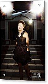 Fashion Model On Steps Acrylic Print by Jorgo Photography - Wall Art Gallery