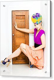 Fashion Police Blocking Doorway Acrylic Print by Jorgo Photography - Wall Art Gallery