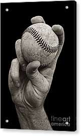Fastball Acrylic Print by Diane Diederich