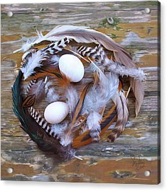 1. Feather Wreath Example Acrylic Print