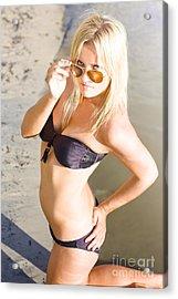 Feisty Beach Vixen Acrylic Print by Jorgo Photography - Wall Art Gallery