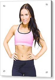 Female Gym Personal Fitness Trainer Or Instructor Acrylic Print by Jorgo Photography - Wall Art Gallery