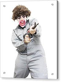 Female Psycho Killer Acrylic Print