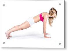 Female Yoga Instructor Acrylic Print by Jorgo Photography - Wall Art Gallery