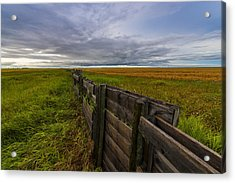 Fence Landscape Acrylic Print