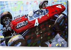 1965 British Grand Prix Silverstone  Lorenzo Bandini Ferrari 158 Acrylic Print