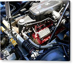 Acrylic Print featuring the photograph Ferrari Engine by Jeff Lowe