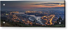 Ferrol's Ria Panorama From Mount Ancos Galicia Spain Acrylic Print
