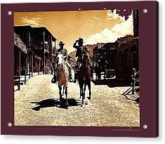 Film Homage Mark Slade Cameron Mitchell Riding Horses The High Chaparral Old Tucson Az C.1967-2013 Acrylic Print