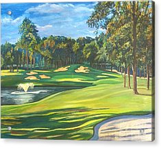 Final Hole At Walden On Lake Conroe Acrylic Print by Frank Giordano