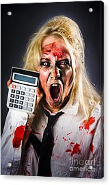 Finance Tax Accountant. Return From The Dead Acrylic Print by Jorgo Photography - Wall Art Gallery