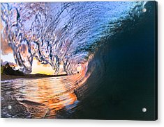 Fire And Ice Acrylic Print by Sean Davey