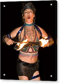 Fire Dance Acrylic Print by Don Ewing