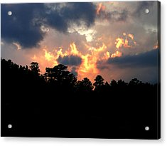 Acrylic Print featuring the photograph Fire In The Sky by Craig T Burgwardt