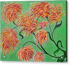 Acrylic Print featuring the painting Fireworks by Alys Caviness-Gober