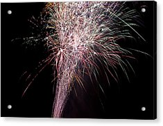 Acrylic Print featuring the photograph Fireworks by David Isaacson