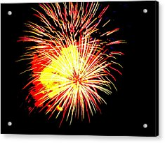 Fireworks Over Chesterbrook Acrylic Print by Michael Porchik