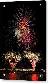 Fireworks  Acrylic Print by Saija  Lehtonen