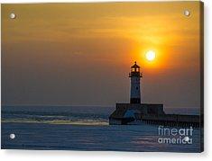 First Sunrise Acrylic Print by Ronny Purba