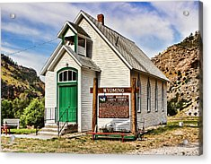 First Washakie County Church Acrylic Print by Cathy Anderson