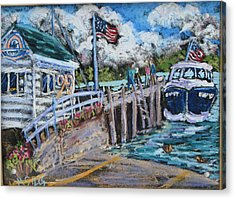 Fish Creek Boat Launch Acrylic Print by Madonna Siles