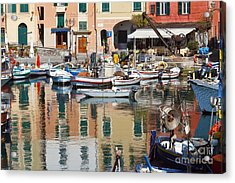 fishing boats in Camogli  Acrylic Print