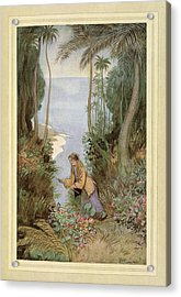 Fishing Acrylic Print by British Library