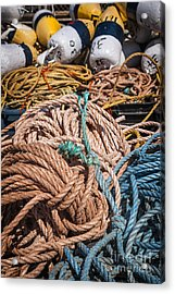 Fishing Floats And Rope Acrylic Print