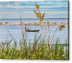 Fishing In Pawleys Island Inlet Acrylic Print