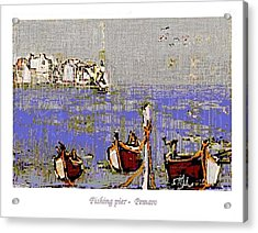 Acrylic Print featuring the painting Fishing Pier by Pemaro
