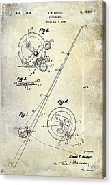 Fishing Reel Patent 1939 Acrylic Print by Jon Neidert