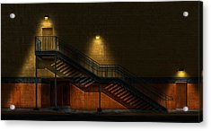 Shadowy Staircase Acrylic Print