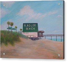 Flagler Beach Florida Acrylic Print