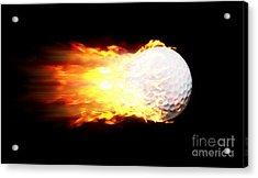 Flame Golf Ball Acrylic Print