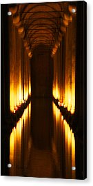 Flaming Passage Acrylic Print by Cheri Randolph