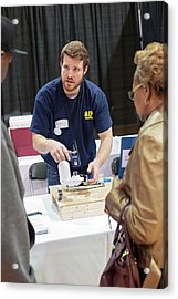 Flint Water Filter Demonstration Acrylic Print by Jim West
