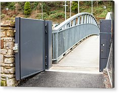 Flood Defences In Cockermouth Acrylic Print