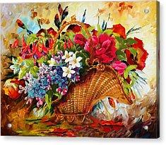 Floral 11 Acrylic Print by Mahnoor Shah