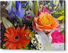 Floral Bouquet 5 Acrylic Print by Sharon Talson