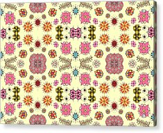 Floral Burst Acrylic Print by Sumit Mehndiratta