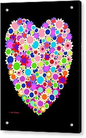 Floral Heart Valentine Acrylic Print