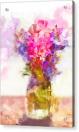 Acrylic Print featuring the painting Floral Still Life by Linde Townsend