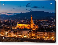 Florence City At Night Acrylic Print