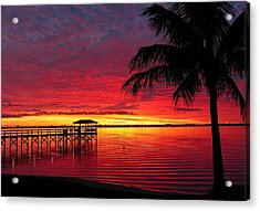 Acrylic Print featuring the photograph Florida Sunset IIi by Elaine Franklin