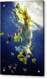 Flower Fantasy Acrylic Print by Dmitry Laudin