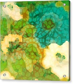 Acrylic Print featuring the digital art Flower Garden by Lisa Noneman
