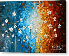 Flowers After Rain Acrylic Print by Denisa Laura Doltu