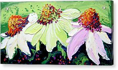Flowers Acrylic Print by Isabelle Gervais