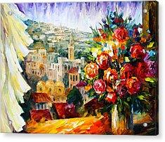 Flowers Of Jerusalem Acrylic Print by Leonid Afremov