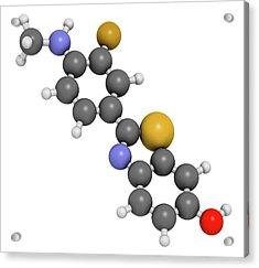 Flutemetamol 18f Pet Tracer Molecule Acrylic Print